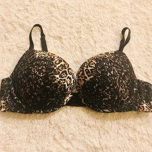 Victoria's Secret Very Sexy Leopard PushUp Bra 36C